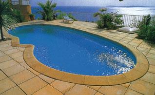 piscinas poliester forma riñon