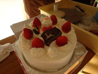 サンタさんケーキの完成!