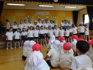 幼稚園のお友達も張り切って歌いました!