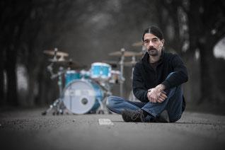 """Jazzentiell - Herbert """" Hebbe"""" Heim - Schlagzeug (Foto: Leo Heim)"""