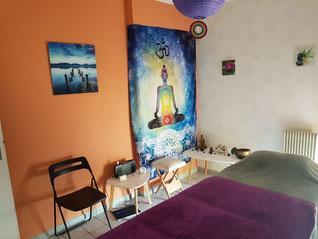 Méditation et salle de relaxation, bien-être