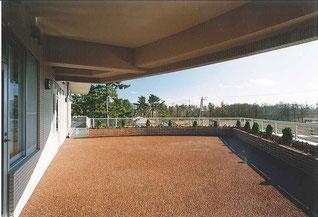 15年前のテラスからの風景。施設前には畑が広がっていました