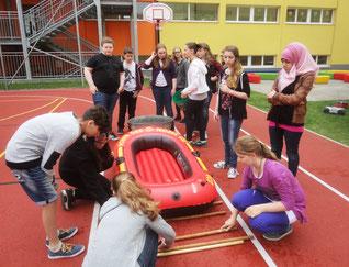 3.NMS bei den Wasserjugendspielen in Horn