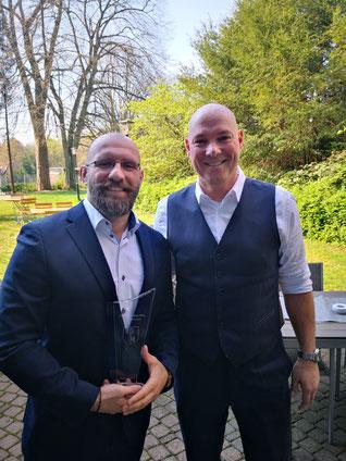 Sportler des Jahres 2018 in Velbert Petros mit dem Herrn Bürgermeister Dirk Lukrafka