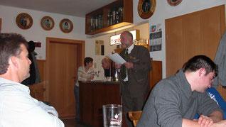 1.Vorstand Buczeck Reinhold bei der Begrüßung