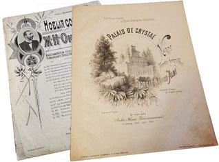 Вальсы Жоржа Оки-Альби: Хрустальный дворец, Таинственная ночь, ноты для фортепиано