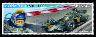 Art auto - michel verrando - automotive painting - F1 stamps