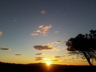 ein SonneAufgang auf der Finca AquariOasis /Capmany/Katalonia