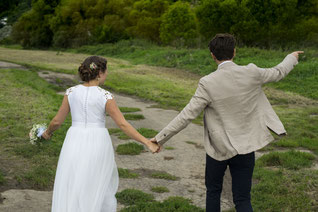 Brautkleid kurz Doupion-Seide