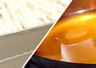 麺と油の画像