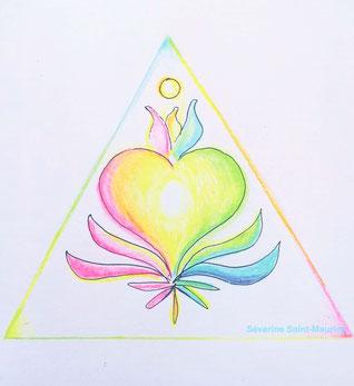 dessin. dessiner en conscience. lescerclesdelumiere.com. Tours 37000. Séverine Saint-Maurice. conscience. coeur. lumiere. amour