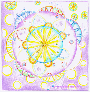 dessin intuitif, mandala, severine saint-maurice, lescerclesdelumiere.com, rosace