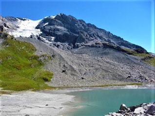 Le sommet et le glacier de la Grande Casse 3855m