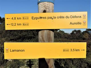 Eyguieres, LeDéfens, Lamanon, château de la reine Jeanne : 8 décembre 2019