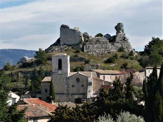 Orgon et son château ruiné