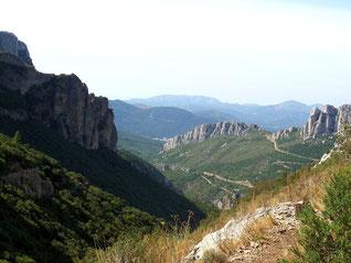 La vallée de Saint Pons depuis la Glacière