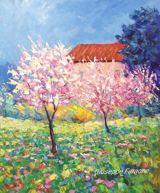 primavera, dipinto, colori, giuseppe faraone