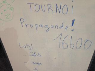 un mini tournoi de Propagande ! au Festival du Jeu de Villepreux