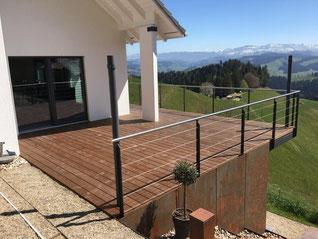 Terrassenboden Kebony  Mosegg - Terrassenboden Bern und Emmental