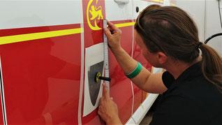 Feuerwehr Beschriftung