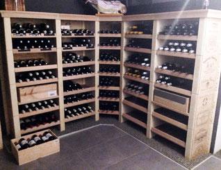 Rangement optimal des bouteilles de vin en cave