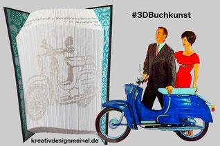 3DBuchkunst, Bücherfalten, Simson Schwalbe