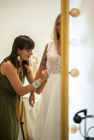 robe de mariée var sur mesure