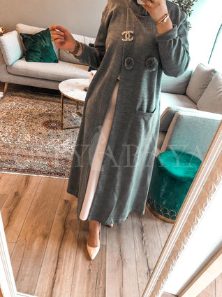 Open Short Abaya