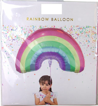 BALLON METALLIQUE ARC EN CIEL PASTEL DECO ANNIVERSAIRE LICORNE- UNICORN RAINBOW BALLOON