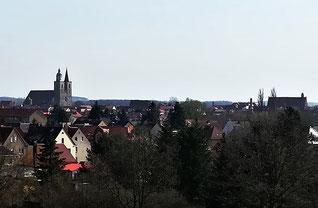 Jüterbog Nikolaikirche , Blick vom Wasserturmberg