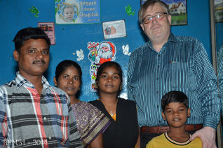 Suresh et sa famille - janv. 2014