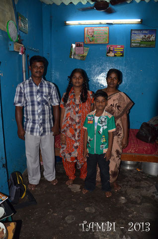 Family of Suresh, our sponsor boy - Jan.2013