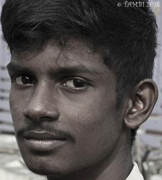 Sridhar, orphelin depuis juillet 2016. Accueilli dans notre maison des garçons depuis septembre 2016