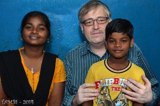 Notre fileul, Suresh et sa soeur - Janv. 2014
