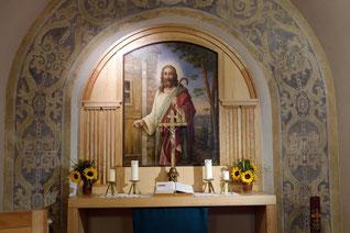 Altarbild aus der Waldkapelle für den Impuls von Pfarrer Diesing