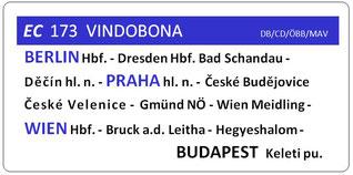 Express Eurocity Vindobona ProFJB Berlin-Prag-Gmünd-Wien-Budapest