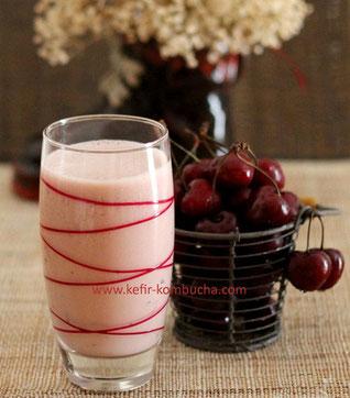 kefir de lait: le smoothie aux cerises