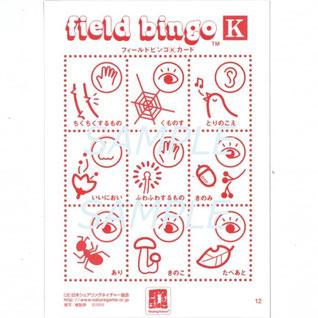 フィールドビンゴのカード