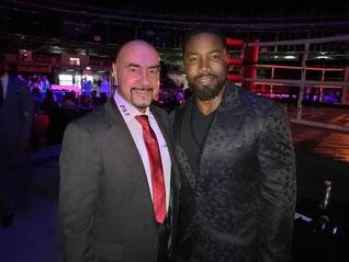 Foto: Freddy Kleinschwärzer mit Michael Jai White – Eröffnungsabend des LFS Abend