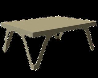 table basse couleur beige Champagne pour salon signée piedtable.fr .