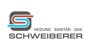 Heizung, Sanitär, Gas Schweiberer Logo. Kunstvoll abstrahiertes S in rot und blau auf grauem abgerundetem Quadrat