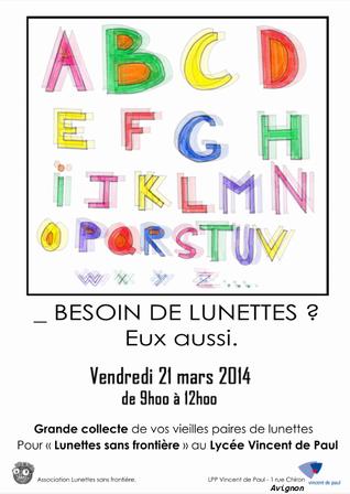 Affiche des jeunes du Lycée Vincent de Paul d'Avignon