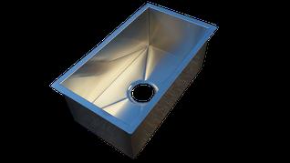 Fregadero sobre encimera o bajo encimera con escurreplatos a medida