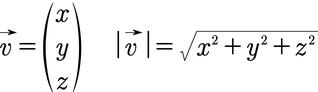 Formel für den Betrag eines 3D Vektors