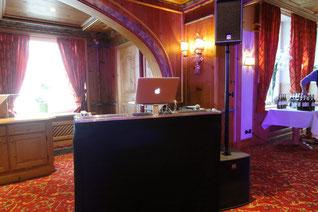 DJ-Setup im Schlosshotel Holzrichter