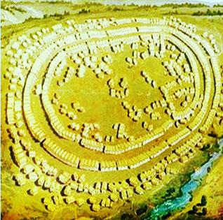 Los asentamientos humanos de la Vieja Europa estaban en grandes espacios abiertos junto a ríos y carecían de muros defensivos.