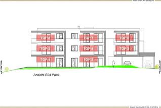 Süd-West Ansicht des Wohnhauses am Stadlgrund in Graz-Andritz, Reiter GmbH