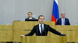 Медведев_отчет Правительства в Государственной Думе за 2014 год