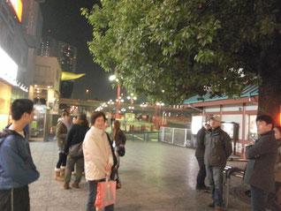 集合は吾妻橋のこの辺です!