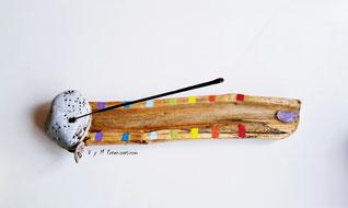 madera de mar, quemador de incienso madera, vymcreaciones.com, decoración hippie